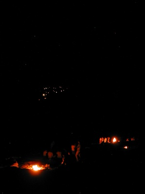 ~Aluie Lycian-Trekking-Pics Chimera-Flames,-City-Lights,-And-Stars
